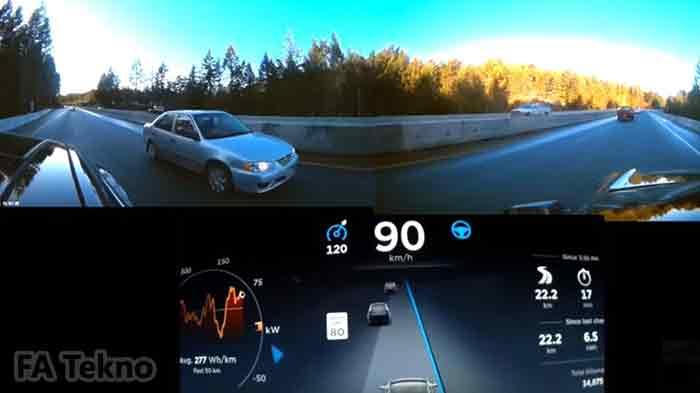 Mobil pintar Tesla dengan AI