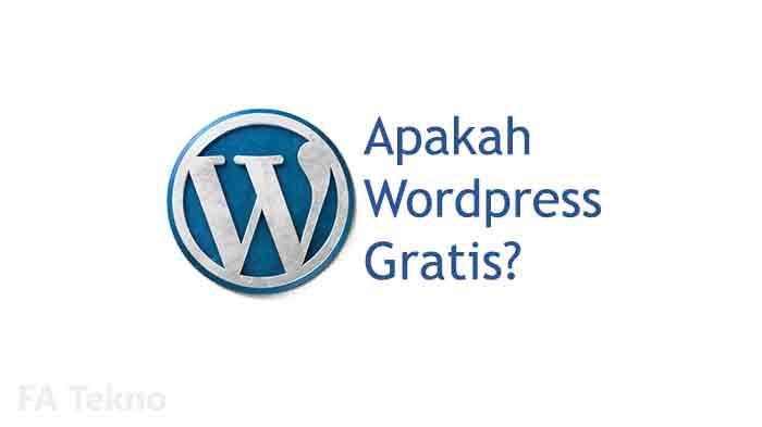 Apakah wordpress gratis