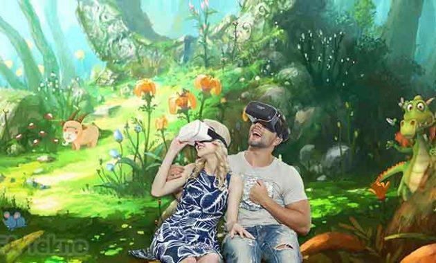 Ilustrasi penggunaan virtual reality