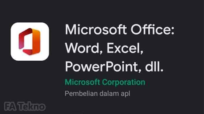 Aplikasi Microsoft Office