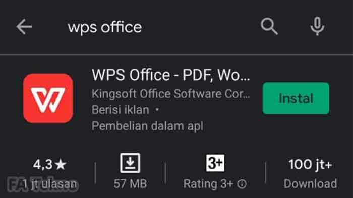 Aplikasi WPS Office