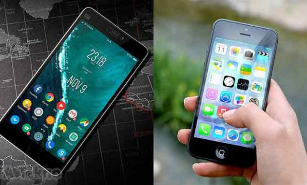 Smartphone Android vs iPhone