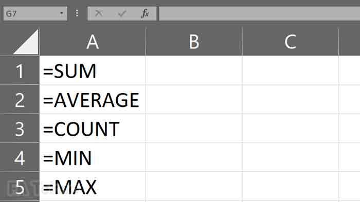 Berbagai fungsi dasar Microsoft Excel
