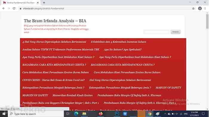 Analisis Saham Fundamental by Irfanda-Situs Belajar Investasi Saham