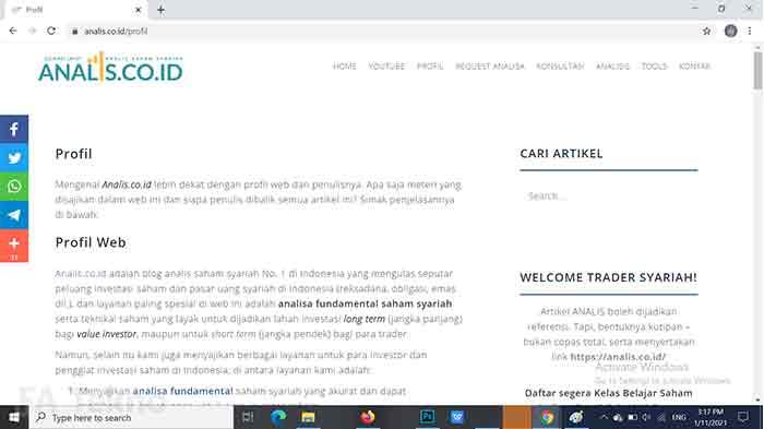 Analisis Saham Syariah by Zulbiadi Latief-Situs Belajar Investasi Saham