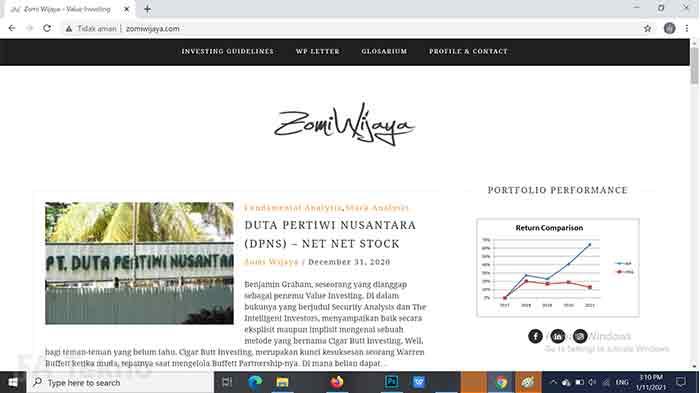 Value Investor Zomi Wijaya-Situs Belajar Investasi SahamSitus