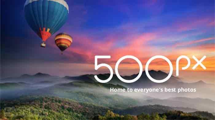 500px-Website Stok Foto
