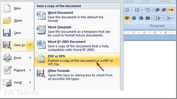 Ms.Word-Convert DOCX ke PDF